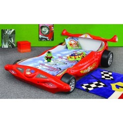 Racing car bed with LED lights