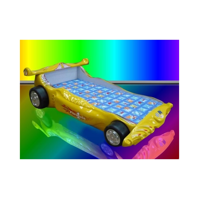 Racing car bed with led lights furniture by room sena home