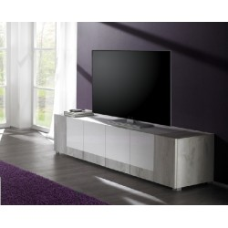 Mars - gloss TV Stand with pine finish