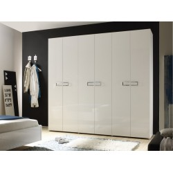 Lidia lacquered gloss wardrobe