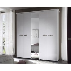 Ambrosia 5 Door lacquered gloss wardrobe