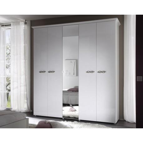 Ambrosia 5 Door lacquered gloss wardrobe