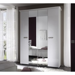Ambrosia 4 Door lacquered gloss wardrobe
