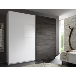 Tambura - wardrobe white and wenge