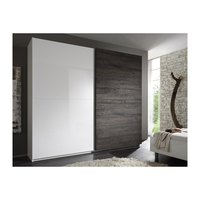 tambura wardrobe white and wenge wardrobes sena home On armoire penderie wenge