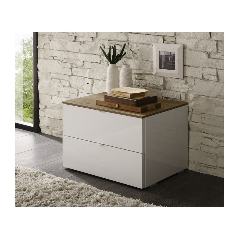 Tambura high gloss bedside cabinet bedside tables sena home furniture - Tables de nuit design ...
