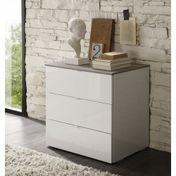 Tambura- high gloss 3 chest of drawer