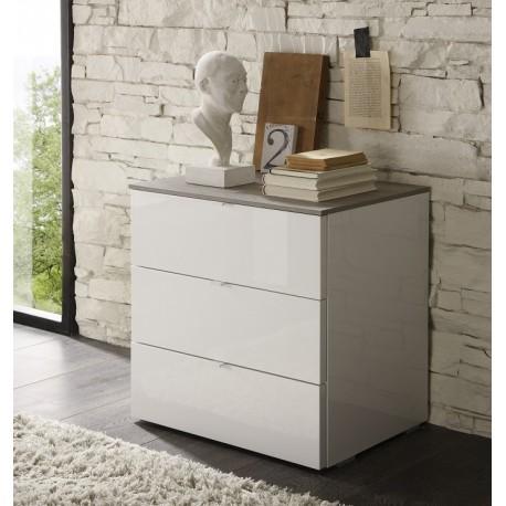 Tambura- high gloss 3 chest of drawer