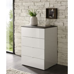 Tambura high gloss 4 drawers cabinet