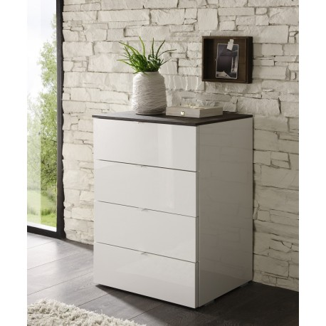 Tambura- high gloss 4 drawer tall cabinet