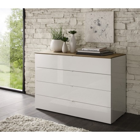 Tambura- high gloss 4 chest of drawer
