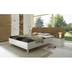 Tambura- Italian modern bed white and honey