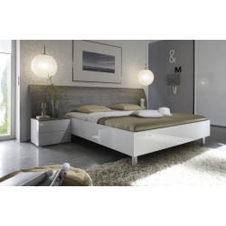 Tambura- Italian modern bed white and grey