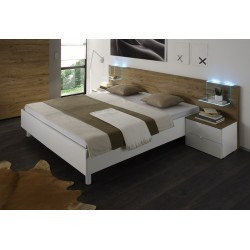 Tambura II- Italian modern bed white and honey venner