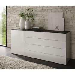 Tambura- high gloss 5 chest of drawer
