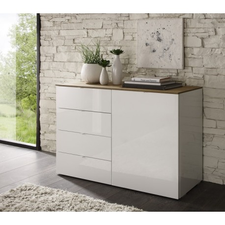 Tambura IV- high gloss drawer tall cabinet