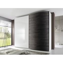 Tambura II - high gloss wardrobe with curved door
