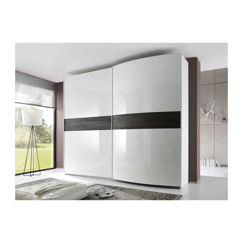 Luxury Ikea Wardrobe Uk: High Gloss Wardrobe With Wooden Decor