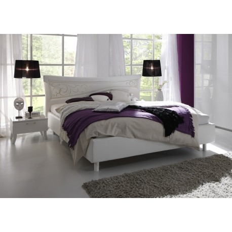 Sibilla- Italian modern bed in white