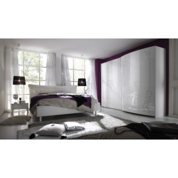 Sibilla modern lacquered bedroom set