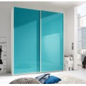 Smart lacquered wardrobe with sliding doors