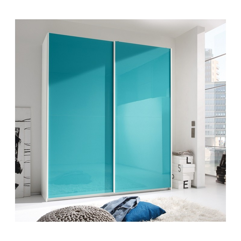 smart lacquered wardrobe with sliding doors - wardrobes  1183
