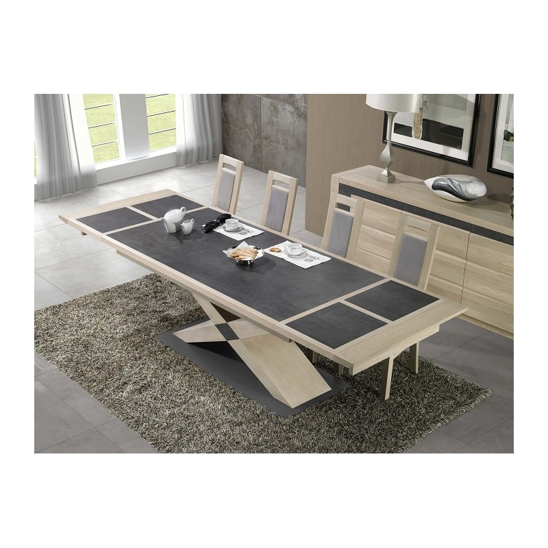 Etna exclusive extending dining table dining tables for Exclusive dining table