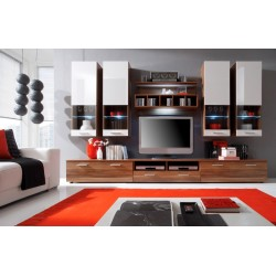 Dona wall set - oak & white