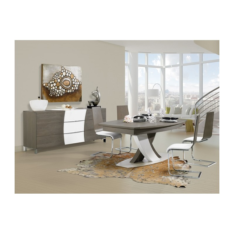 Versa exclusive extending dining table dining tables for Exclusive dining table designs