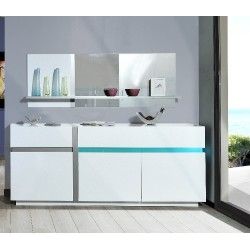 Cross white sideboard with LED lights