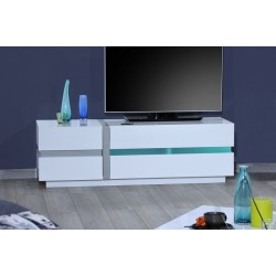 Cross - white TV Stand with LED lights
