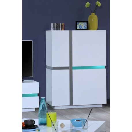 Cross - white highboard with LED lights