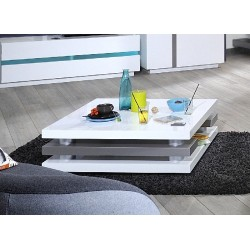 Cross- gloss coffee table