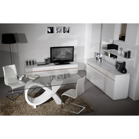 Orde high gloss dining table