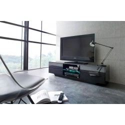 Song - black gloss TV unit with LED lights