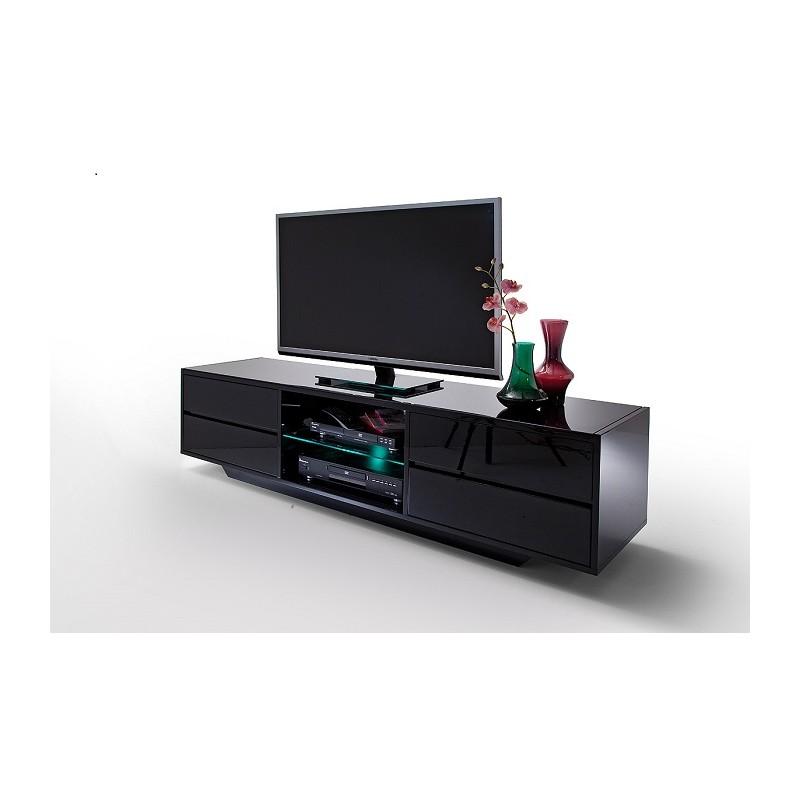 Led Tv Unit : Song - black gloss TV unit with LED lights - TV stands - Sena Home ...