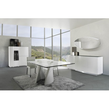 Elegante-highboard in high gloss finish