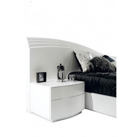 Elegante- high gloss bedside cabinet