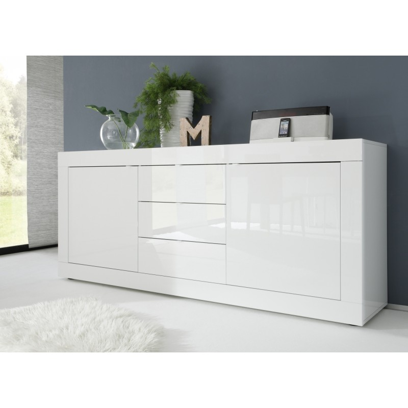dolcevita ii white gloss sideboard sideboards sena. Black Bedroom Furniture Sets. Home Design Ideas