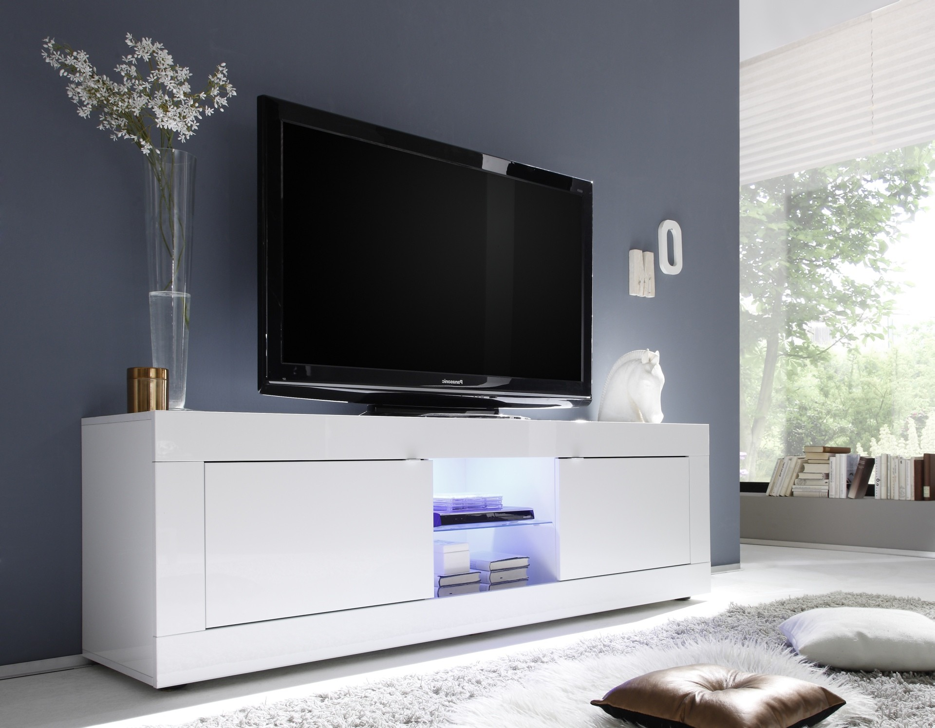 Popular 225 List White Tv Cabinet # Meuble Tv Alphason