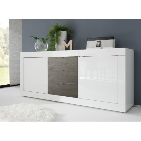 Dolcevita II-white gloss and wenge sideboard