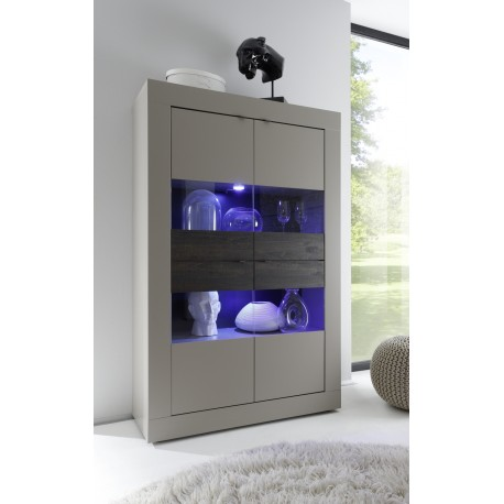 Dolcevita II - wide beige display cabinet