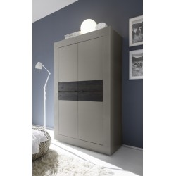 Dolcevita wide large cabinet in matt beige