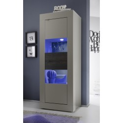 Dolcevita II - narrow beige display cabinet