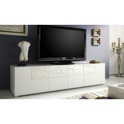 Padua TV unit with decorative ornaments