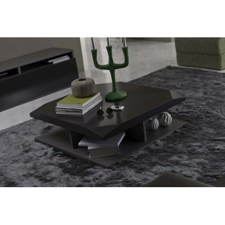 Metri-square lacquered coffee table