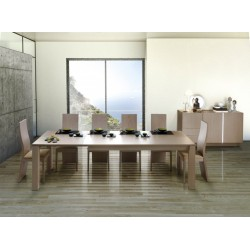 Metri wood extendable dinning table