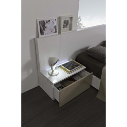 Metri- high gloss bedside cabinet with LED lights