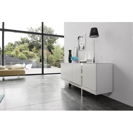 Oxa -luxury high gloss sideboard with chrome