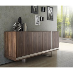 Oxa II veneer sideboard  with chrome inlays
